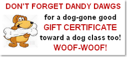 Dog Training Class Gift Certificates